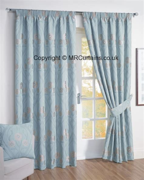 japanese blossom ready made lined curtains duck egg blue duck egg blue stripe pencil pleat curtains curtain
