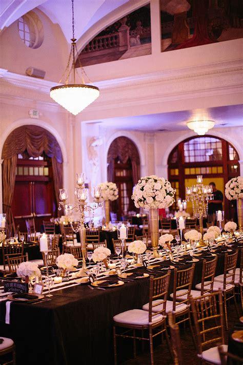black and gold houston wedding at the ballroom modwedding