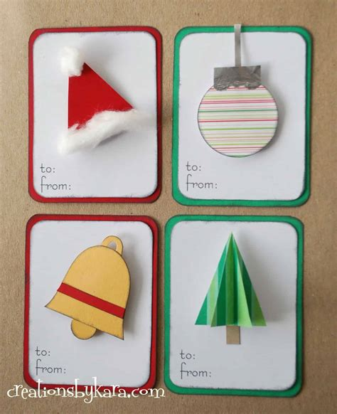 christmas gift tags creations by kara