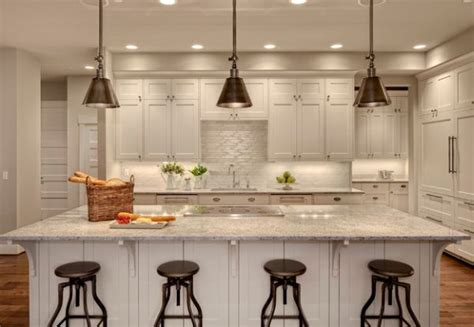 pendants for kitchen island contemporary kitchen with darien metal pendants the kitchen island