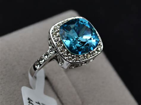 wgp turquoise blue sapphire promise ring halo