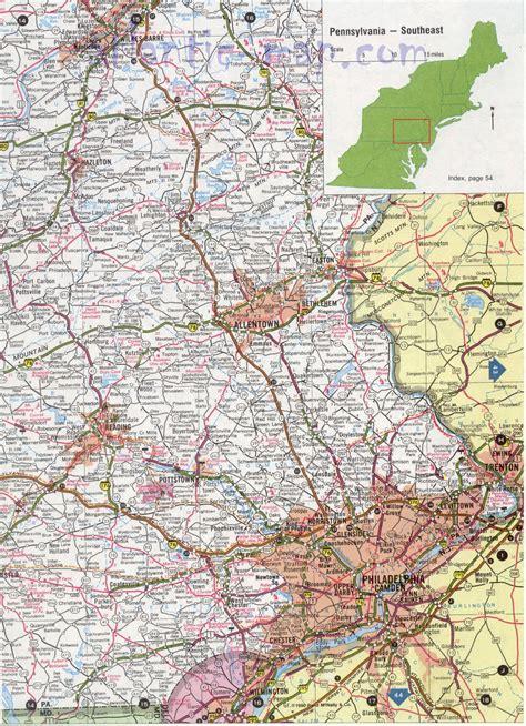 map of southern pa map of southeastern pa my