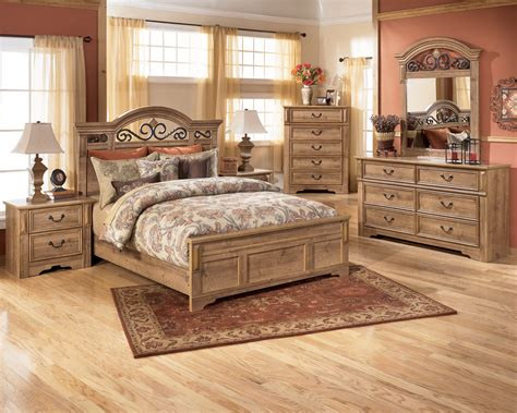 at home bedroom furniture bedroom ashley furniture bedroom sets with metal