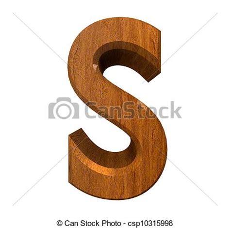 children s alphabet 3d cyan fait s bois lettre 3d illustration de stock