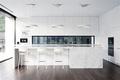 examples  bright white contemporary kitchens contemporist