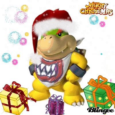 merry christmas  bowser jr picture  blingeecom