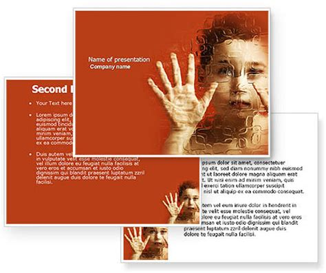 Autism Powerpoint Template Poweredtemplate Com 3 Backgrounds 3 Masters 20 Slides Instant Autism Powerpoint Template Free