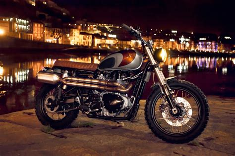 garage moto triumph custom triumph scrambler by ton up garage autoevolution