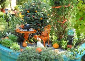 You can do more than decorate for halloween in the miniature garden