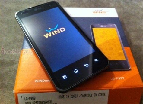 wind mobile news lg optimus 2x on wind mobile android in canada