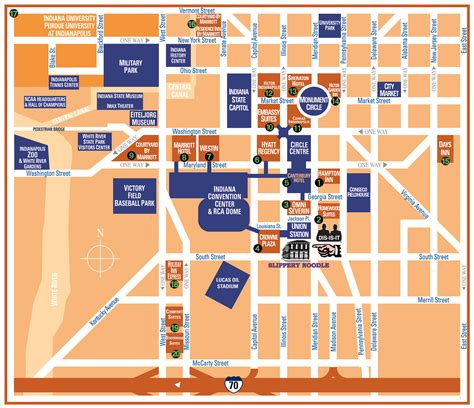 downtown indianapolis map downtown indianapolis in usa