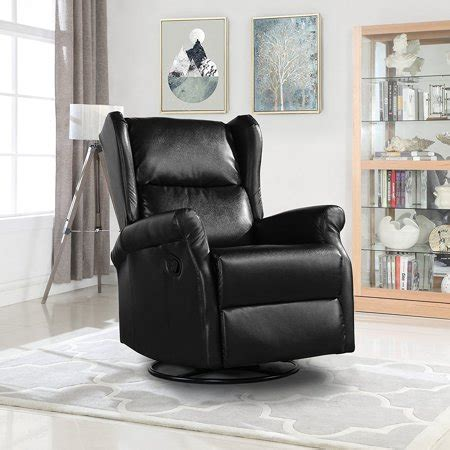 reclining swivel accent chair for living room faux