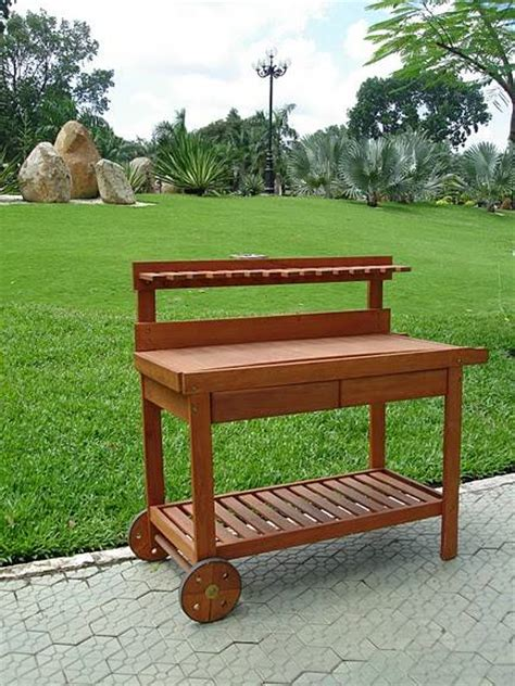 portable potting bench woodworking mission furniture plans portable potting