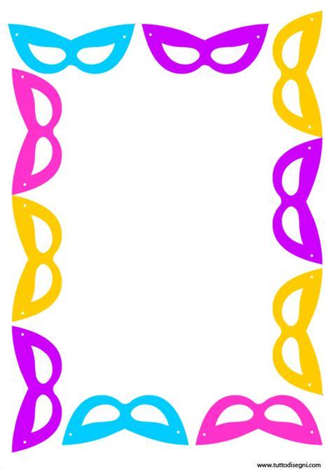 cornici carnevale cornicetta di carnevale a colori tuttodisegni