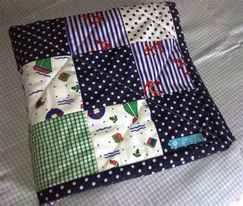 Nautical Patchwork Quilt - flowers in the window nautical patchwork baby quilt