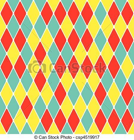 drawing harlequin pattern vectors illustration of harlequin parti coloured seamless