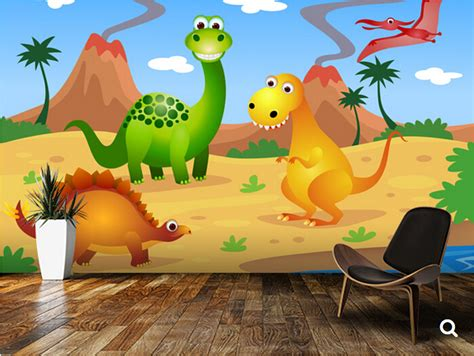 Kinder Wallpapers With 34 Items by Custom Children Wallpaper Dinosaurs 3d Murals