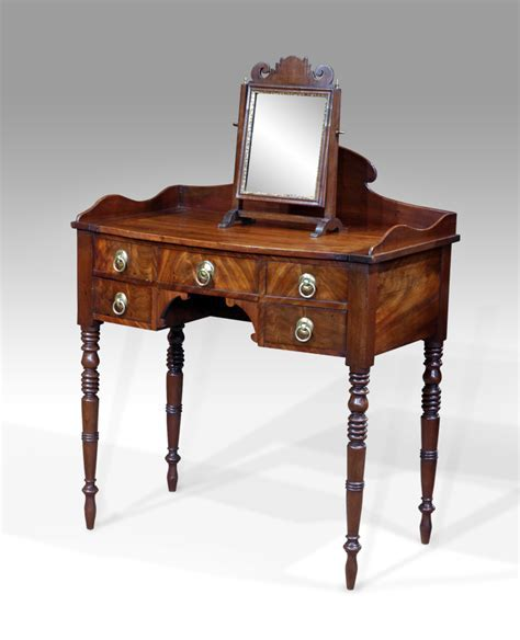 Antique dressing table, bow front dressing table, dressing
