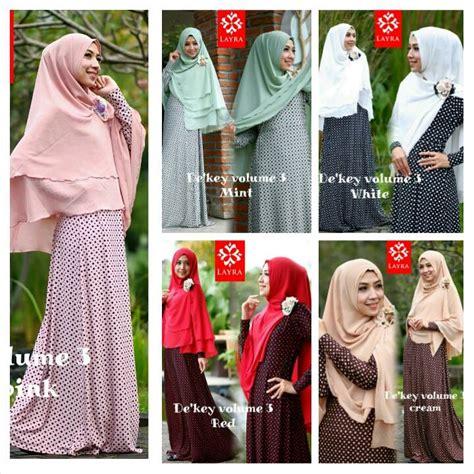 Terbaru Dress Sifon Tangan 3 4 Open Shoulder Gaya Korea busana muslim modern distributor baju muslim surabaya supplier baju muslim tangan