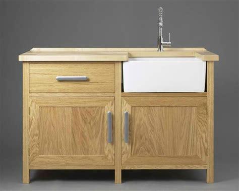 wooden  standing kitchen sink home design lover