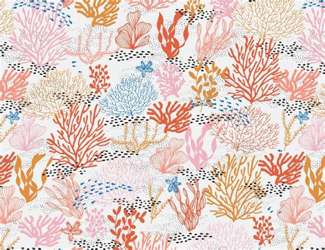 coral pattern coral reef seamless pattern coral reefs coral and patterns