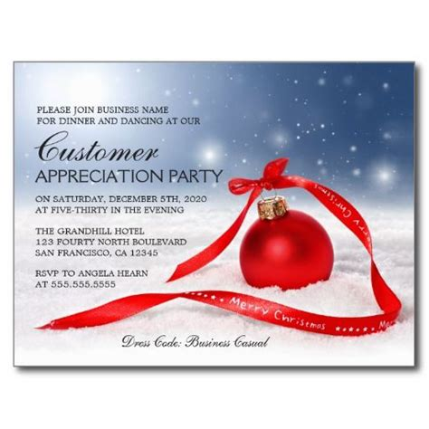 festive christmas customer appreciation invitation zazzlecom christmas  holiday party
