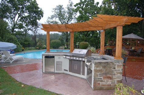 curvy prefabricated outdoor kitchen islands with steel
