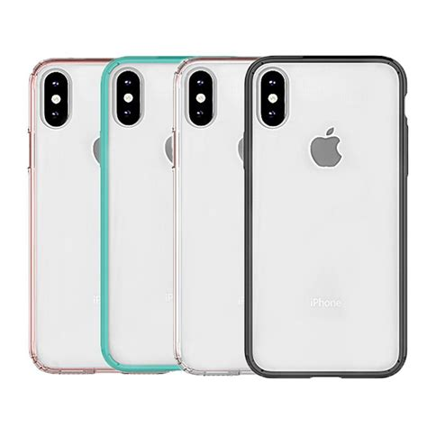 iphone xr case hybrid soft tpu bumper clear pc