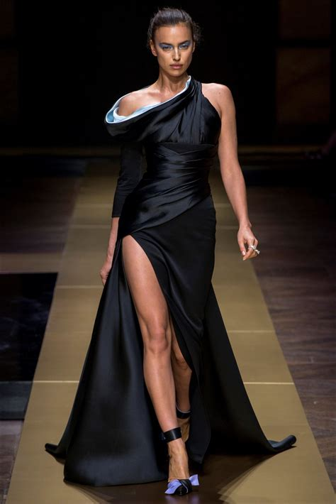 Dress Fashion Show by Irina Shayk Walks The Runway At Atelier Versace Fashion