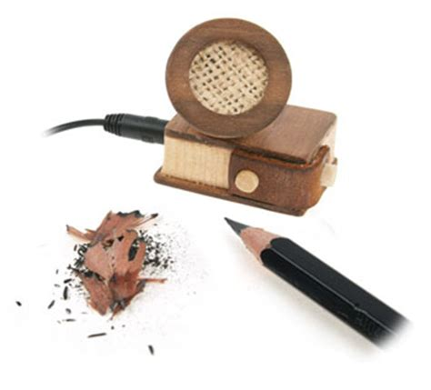 Make Small Sharpener wooden ipod speakers also keeps your pencils sharp gearfuse