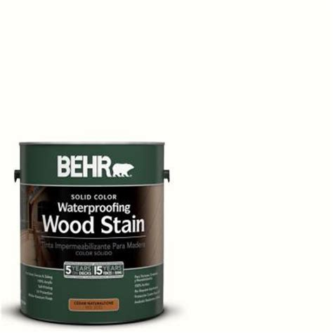 behr  gal white base waterproofing wood stain