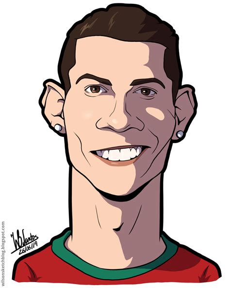 Caricature Drawers by Portugal 2014 Cristiano Ronaldo Caricature
