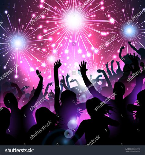 luxury new year luxury new year background fireworks silhouettes stock