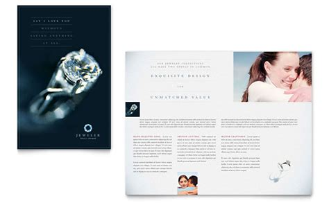 jewelry brochure template jeweler jewelry store brochure template design