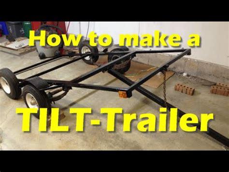 small boat tilt trailer making a diy tilt trailer part 4 youtube