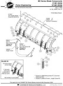 fisher snow plow parts diagram fisher snow plow mc blade parts