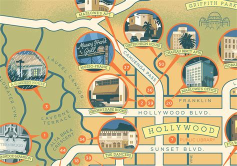 raymond california map the raymond chandler map of los angeles huffpost