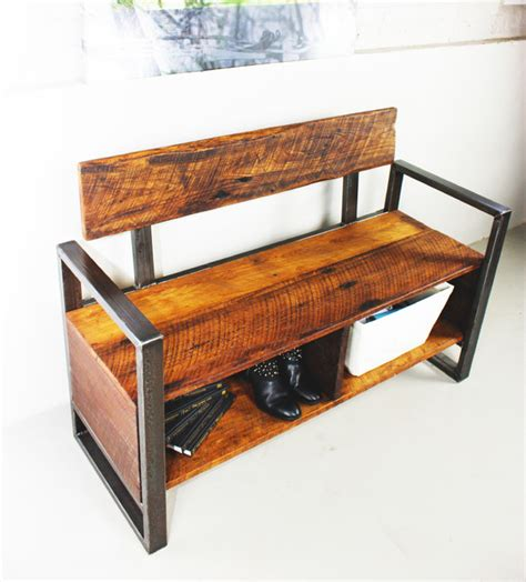rustic bench with storage reclaimed wood bench with storage rustic accent and