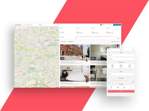 airbnb design guidelines airbnb responsive listings by ueno dribbble