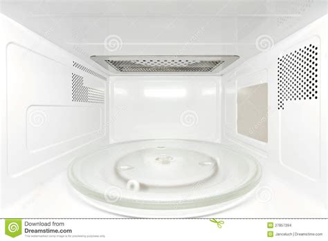 How To Clean Microwave Interior by Inside Microwave Oven Frontal View Stock Photo Image