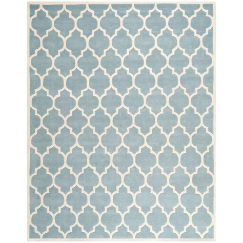 11 X 15 Area Rug Safavieh Chatham Blue Ivory 11 Ft X 15 Ft Area Rug Cht734b 1115 The Home Depot