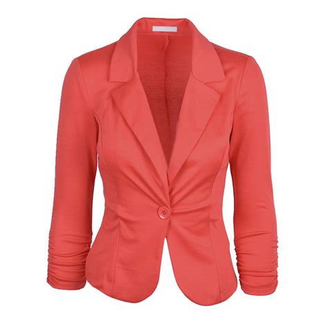 coral blazer womens trendy clothes