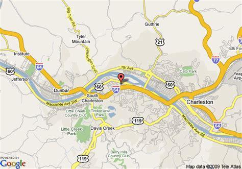 charleston wv map map of ramada plaza hotel charleston charleston