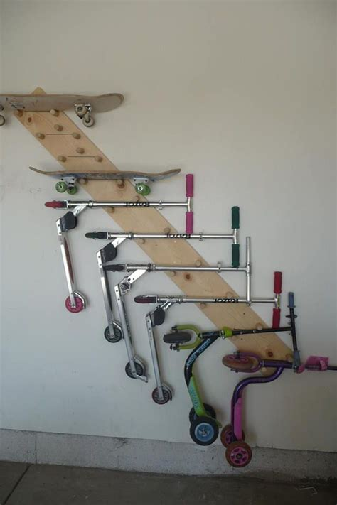 Razor Scooter Storage Rack scooter skateboard holder for the home
