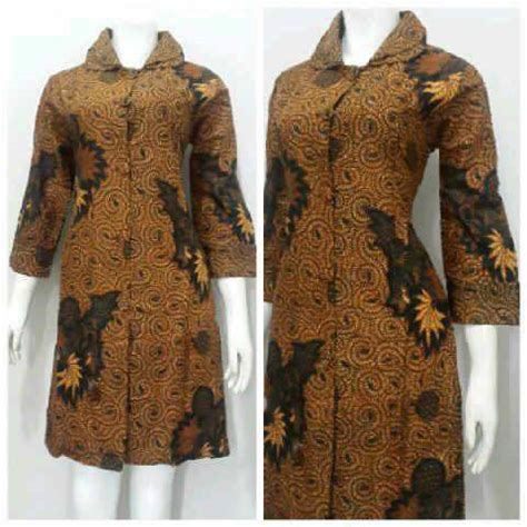 Dress Katun Wanita Batik model baju batik wanita menggunakan bahan katun nyaman