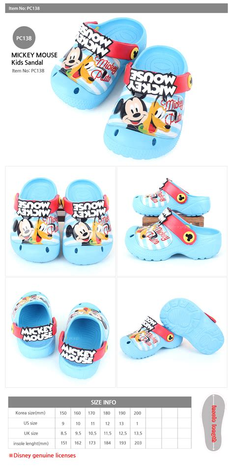 Mickey Blue Slipper Sandals disney mickey mouse blue crocs style comfortable