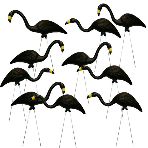 southern patio teamingos 26 in black flamingo 10 pack
