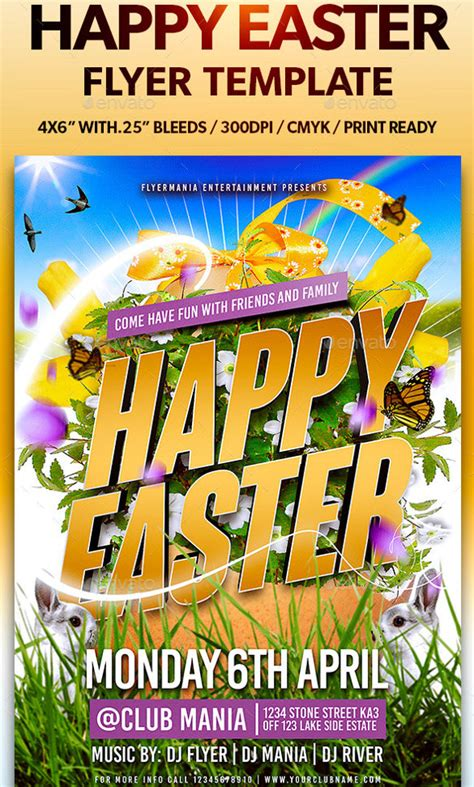 easy templates for flyers 29 easter flyer free psd ai vector eps format