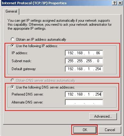 Configure Xp Static Ip | configure windows xp ip settings