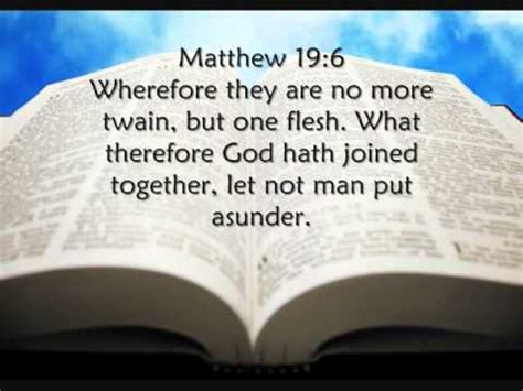 let no or put asunder books what therefore god hath joined together let not put
